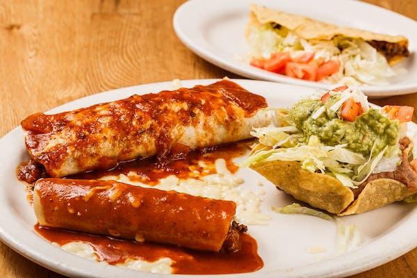 K. Burrito, Chalupa, Taco & Enchilada Combo