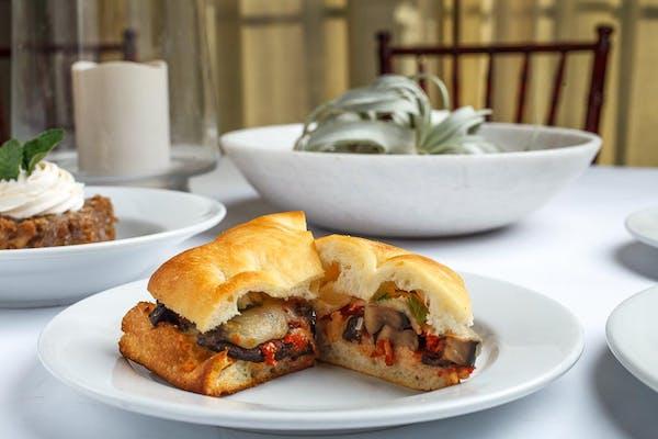 Portobello Parmesan Sandwich