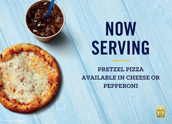 Cheese Pretzel Pizza