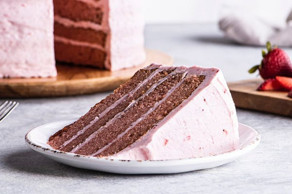 Strawberry Cake Slice