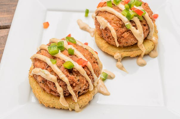 Crab Cake & Fried Green Tomato Stack
