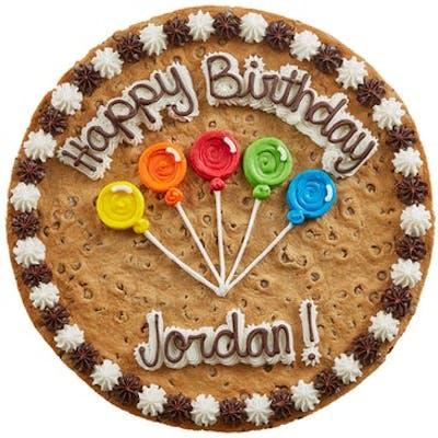 "(16"") Balloon Design Cookie Cake"
