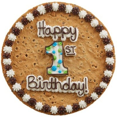 "(16"") Birthday Design Cookie Cake"