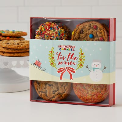 12 Assorted Regular Cookie Gift Box - Winter Holiday