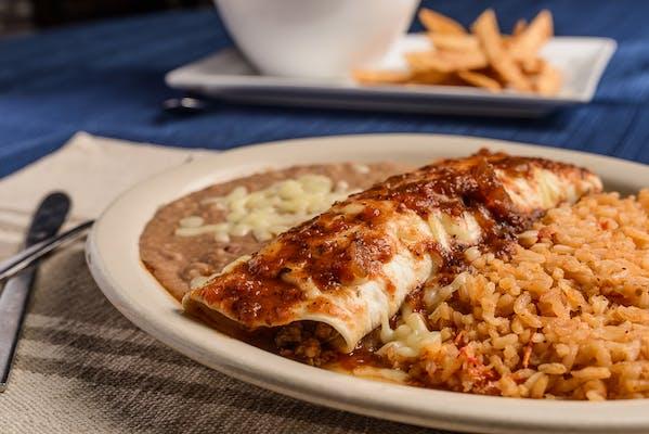 26. Burrito, Rice & Beans