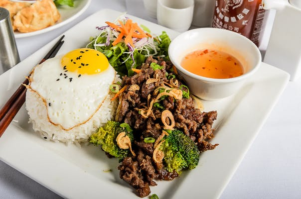 Bulgogi (Korean BBQ) Steamed Rice Plate