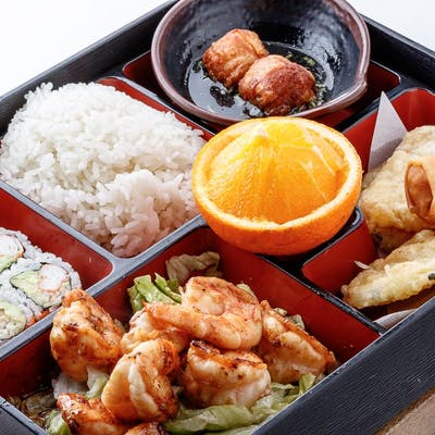 Grilled Shrimp Bento Box (Lunch)