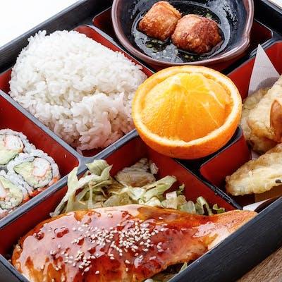 Salmon Teriyaki Bento Box (Lunch)