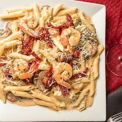 Chipotle Shrimp & Sausage Pasta