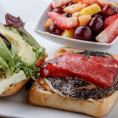 Vegetarian Portobello Mushroom & Avocado Burger