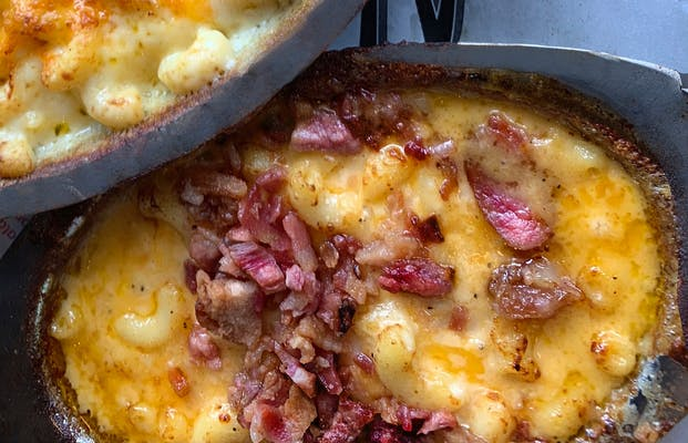 Six Cheese Pimiento Mac with Bacon