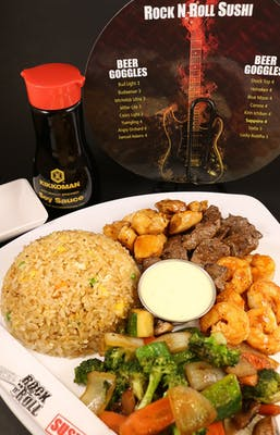 Chicken, Shrimp & Filet Hibachi
