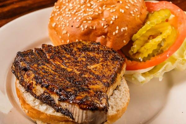 Blackened Tuna Steak Sandwich
