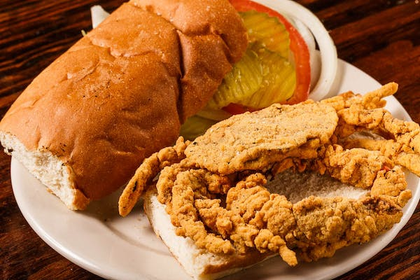 Fried Soft-Shell Crab Poboy