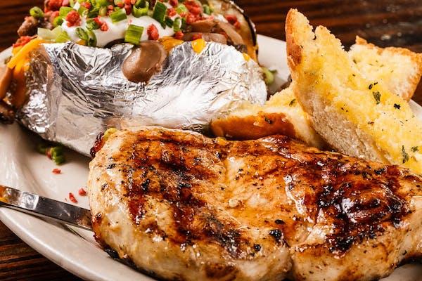 Grilled Pork Chop Platter