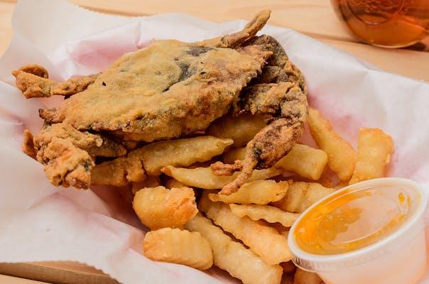 Fried Soft-Shell Crab Platter