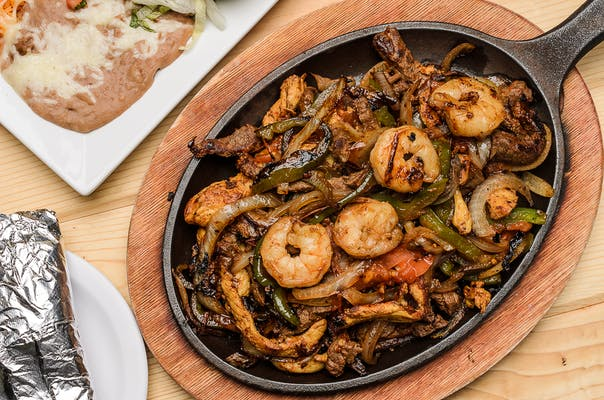 Steak, Chicken & Shrimp Fajitas