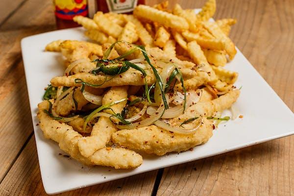 Twelve Salt & Pepper Fish Strips
