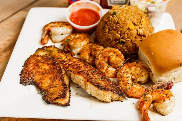 One Grilled Tilapia & Six Grilled Shrimp