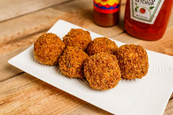 Stuff boudin balls with cheese