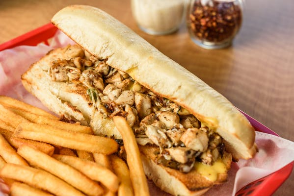 Chicken Philly Cheese Sandwich