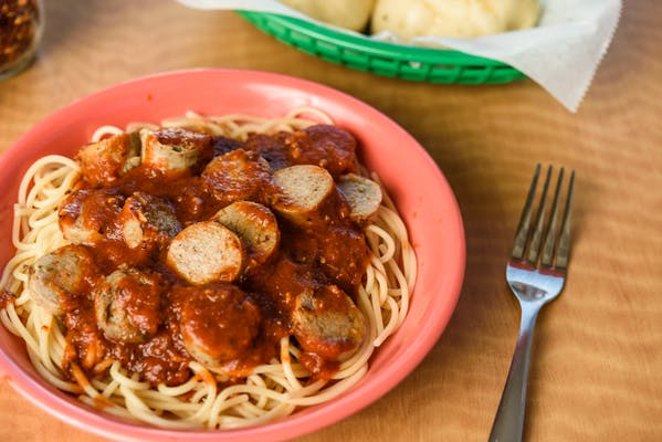 Spaghetti with Meatballs or Sausage