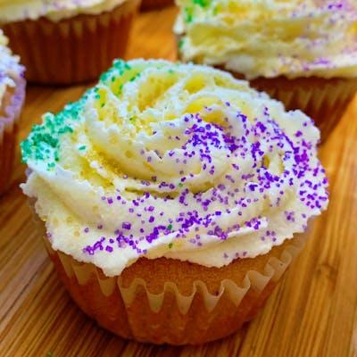 Cream Cheese King Cake Cupcake
