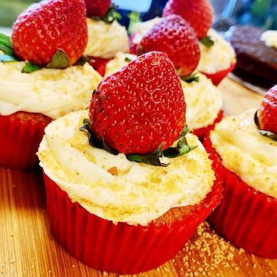 Strawberry Shortcake Cupcake