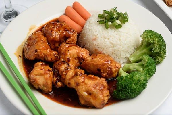 Orange Chicken Plate