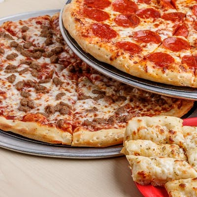 (2) Large Pizzas & (1) Side Value Pack