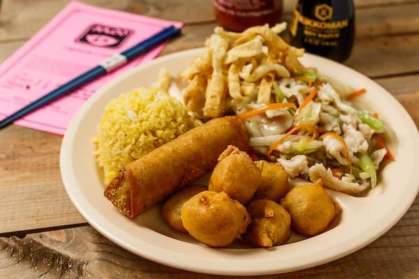 C1. Chicken Chow Mein & Sweet & Sour Pork