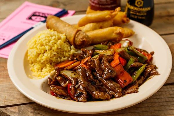 C12. Pepper Steak & Sweet & Sour Chicken