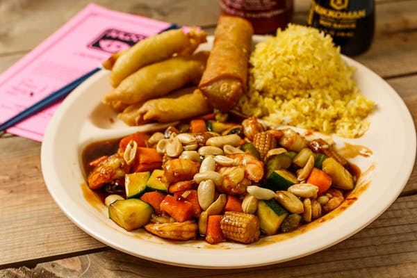 C15. Kung Pao Shrimp & Sweet & Sour Chicken