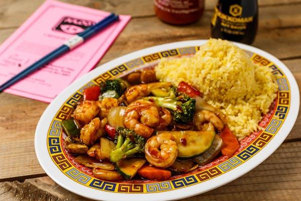 A7. Garlic Shrimp Platter