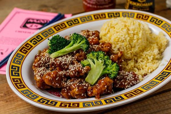 A11. Sesame Chicken Platter