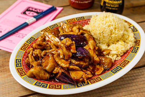 A21. Eggplant in Chicken Platter