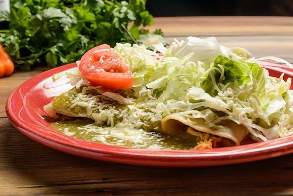Lunch Enchiladas Verdes