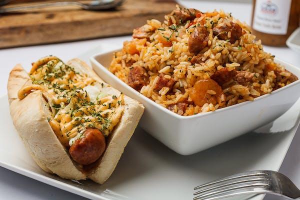 Sausage Po-Boy & Cajun Rice Plate