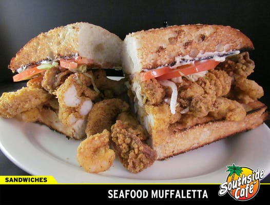 Seafood Muffuletta