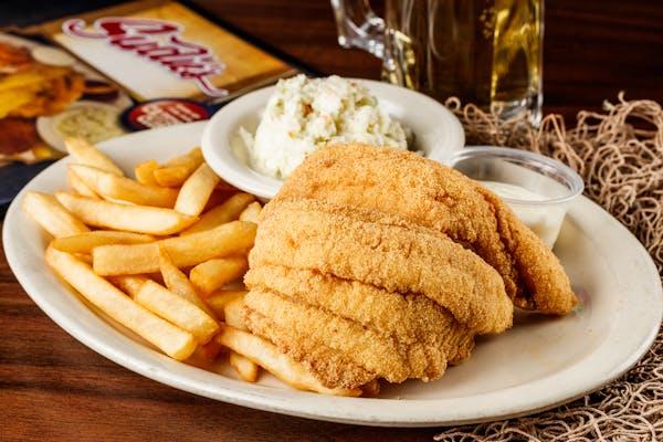 Fried Catfish Fillet Dinner