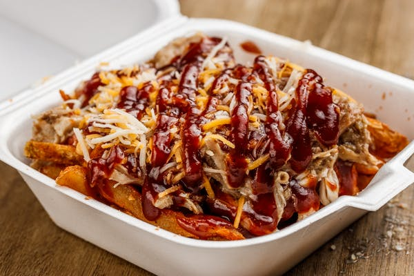 Pulled Pork Fries or Nachos