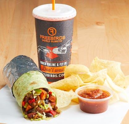 Beyond Meat® Burrito + Chips, Dip & Bev.