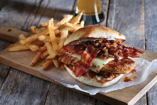 Bacon & Cheddar Grilled Chicken Sandwich