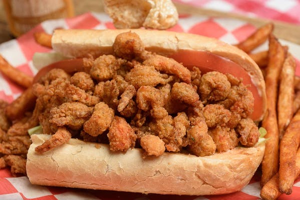 Fried Crawfish Po-Boy
