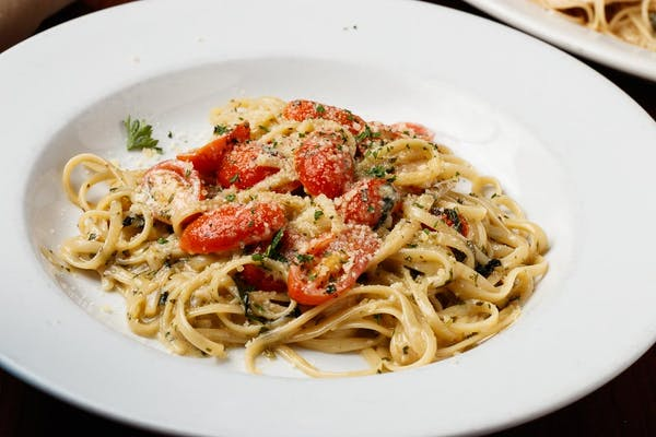 Linguini with Pesto and Roasted Tomatoes