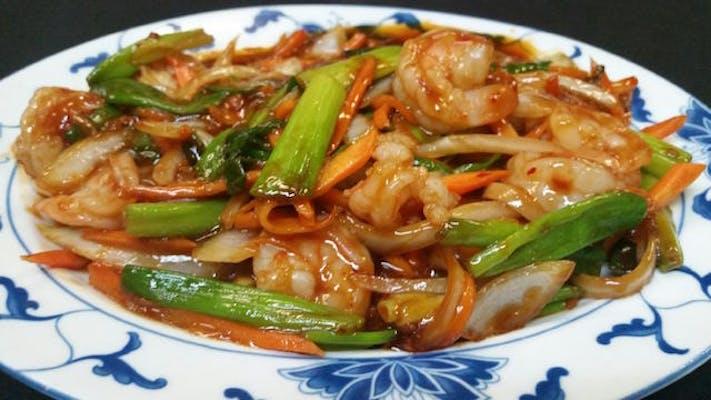 Shrimp in Hot Chili Sauce (Spicy)