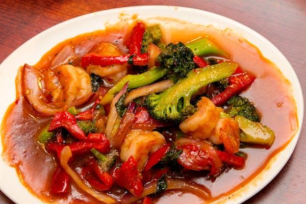 Thai Shrimp With Basil