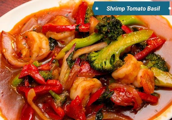 Shrimp with Tomato & Basil