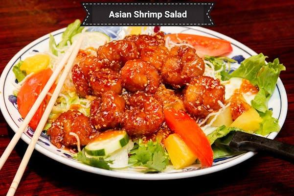 Asian Buffalo Shrimp Salad