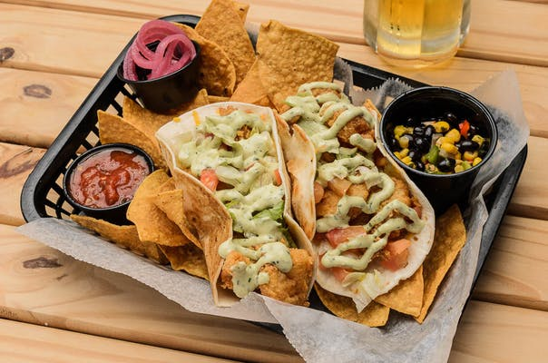 Frisky's Redfish or Shrimp Tacos